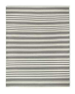 Riviera Stripe Indoor/Outdoor Rug, Steeple Gray - 8' X 10' - Williams Sonoma Home