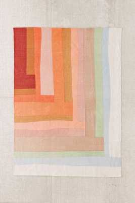 """Assembly Home Mae Patchwork Printed Rug-Bright Red-5""""x7"""" - Urban Outfitters"""