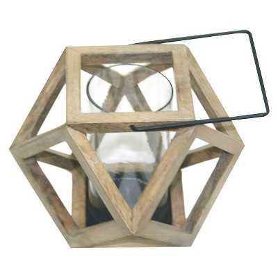 "Thresholdâ""¢ Mango Wood Abstract Pillar Holder Small - Target"