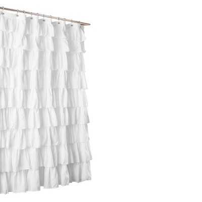 Lush Décor Large Ruffle Shower Curtain - Target