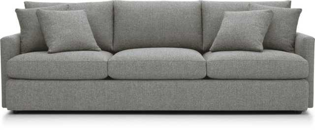 "Lounge II 3-Seat 105"" Grande Sofa -steel - Crate and Barrel"