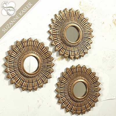 Suzanne Kasler Sunburst Mirror - Set of 3 - Ballard Designs