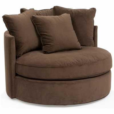 Betty Swivel Chair, View Walnut - High Fashion Home