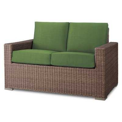 Heatherstone Wicker Patio Loveseat - Green - Target