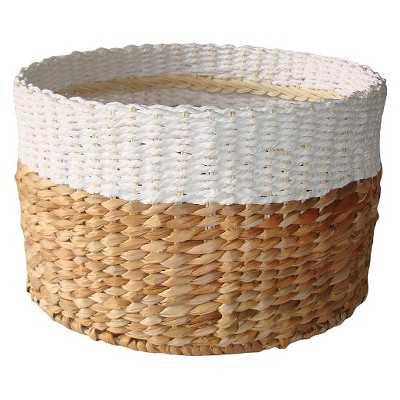 """White & Natural Woven Basket - Large - Thresholdâ""""¢ - Target"""