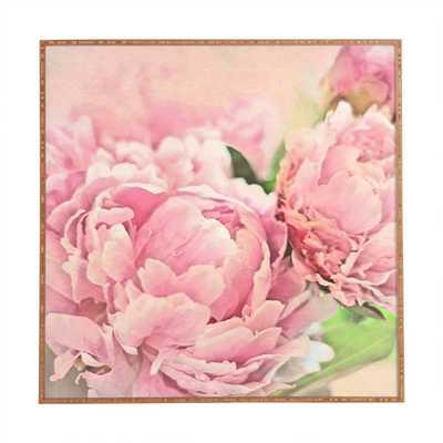 """Peonies by Lisa Argyropoulos Framed Wall Art in Pink - 20"""", wood frame - Wayfair"""