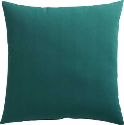 Teal outdoor pillow - 20x20, With Insert - CB2