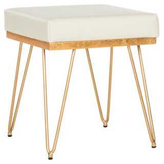 Oslo Square Stool, Cream - One Kings Lane