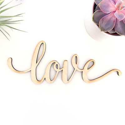 "Script Love Wood Sign - Wood Sign Art, - 18""x7""- Unframed - Etsy"