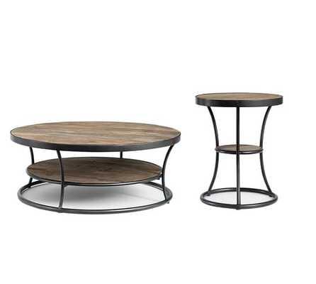 Bartlett Reclaimed Wood Coffee & 2 Side Table Set - Pottery Barn