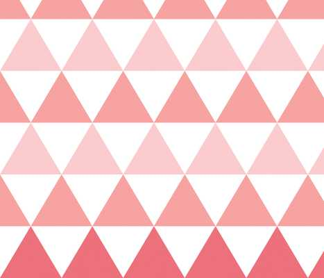 Ombre Triangle Wallpaper - Spoonflower