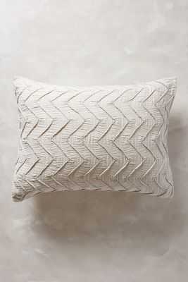 Textured Chevron Shams - Light Gray, King - Anthropologie