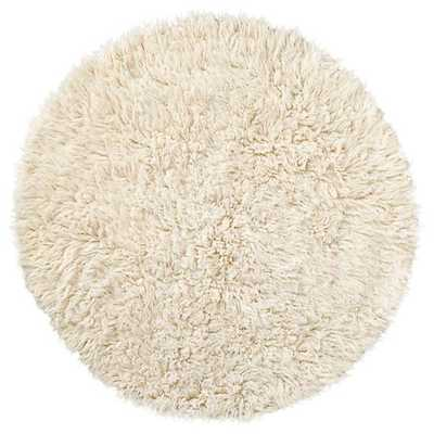 Round Flokati Fluff Rug (Round) - Land of Nod