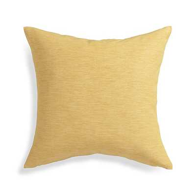 """Linden Saffron Yellow 18"""" Pillow with Feather-Down Insert - Crate and Barrel"""