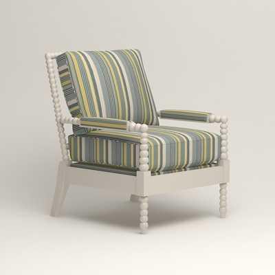 Henderson Chair - Theron Naval Stripe/Ivory - Birch Lane