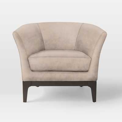 Tulip Chair - Luster Velvet, Dusty Blush - West Elm