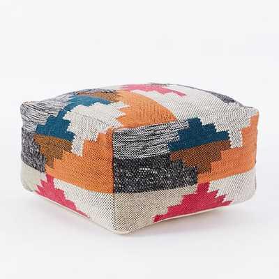 Multi Texture Wool Pouf - West Elm