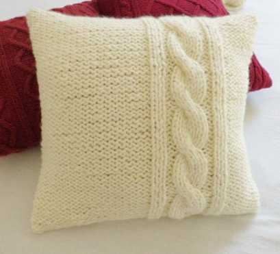 "Decorative Chunky Cream Pillow - 18"" x 18"" - Etsy"