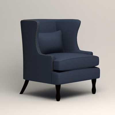 Solomon Wingback Chair - Griffin Commodore Twill - Wayfair