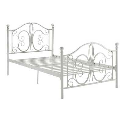 Bonnie Twin Metal Panel Bed - Wayfair