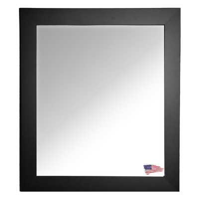 "48"" American Made Rayne Black Satin Wide Wall Mirror - Wayfair"