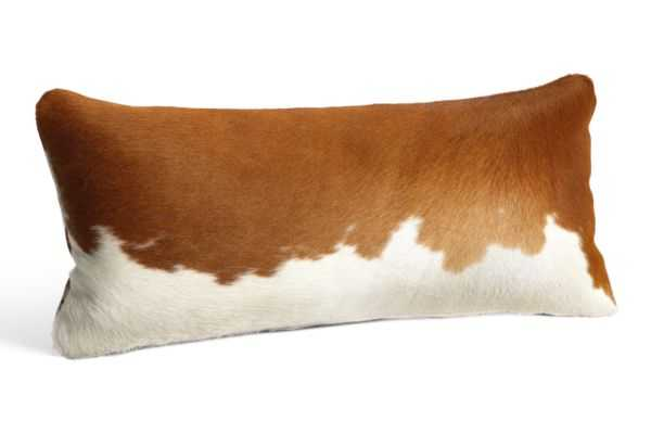 """Natural Cowhide Pillows -24""""w 12""""h, With Insert - Room & Board"""