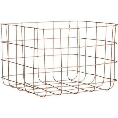 Copper wire storage basket - CB2