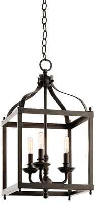 """Kichler Larkin 12"""" Wide Olde Bronze Foyer Pendant - Lamps Plus"""