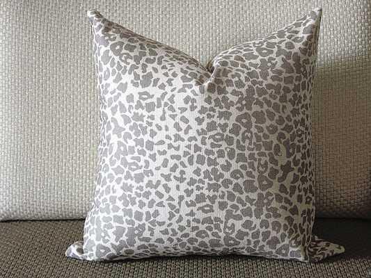 chumacher Leopard Linen Print Pillow Cover  - 18 x 18 - Etsy
