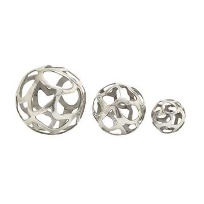 3 Piece Aluminum Decorative Ball Sculpture Set - AllModern