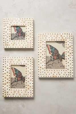 Studded Bone Frame - White & Copper - 4 x 4 - Anthropologie