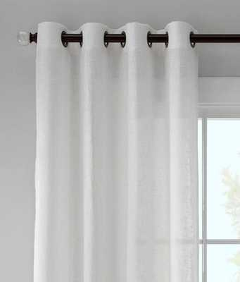 "Astor Sheer Linen Grommet Curtains Pair - 108""L - prospectandvine.com"