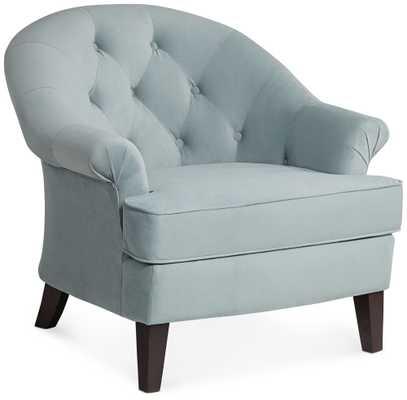 Kash Beau Blue Armchair - Lamps Plus