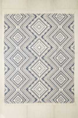Magical Thinking Tonal Diamond Printed Rug - Navy - 8' x 10' - Urban Outfitters