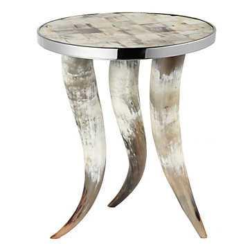 Cheyenne Horn Accent Table - Z Gallerie