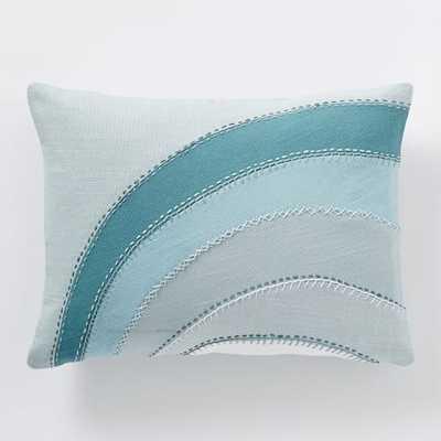 """Coyuchi Applique Pillow Cover 12""""w x 16""""l insert sold separately - West Elm"""