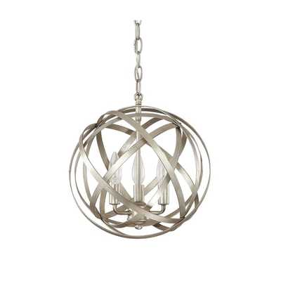 Capital Lighting Axis Collection 3-light Winter Gold Orb Pendant - Overstock