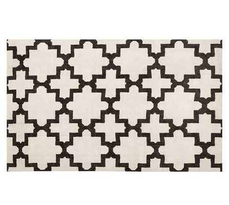 MELIA HAND-LOOMED RUG - IVORY/BLACK - Pottery Barn