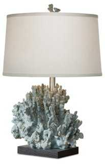 Coral Table Lamp, Blue/Gray - One Kings Lane