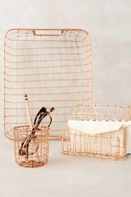 Copper Lattice Desk Collection - Magazine Tray - Anthropologie