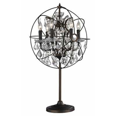 """33"""" H Table Lamp with Sphere Shade by CDI International - Rustic - AllModern"""