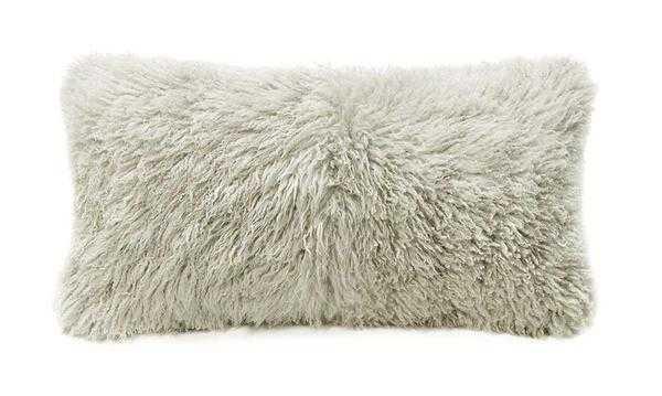 Curly Longwool Sheepskin Cushion - Bamboo - Tressle