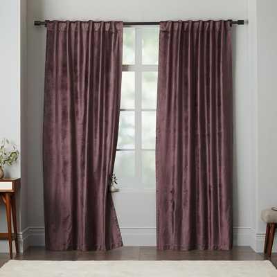 "Luster Velvet Curtain - Dark Iris - 63"" - West Elm"