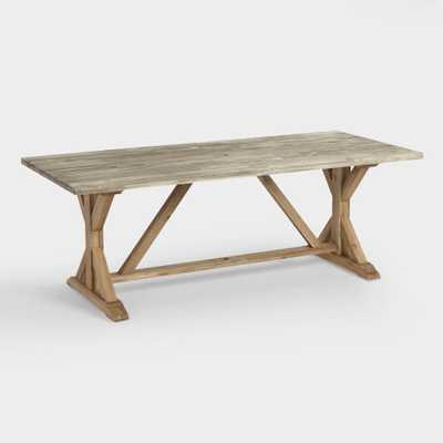 Two Tone Wood San Remo Trestle Dining Table - World Market/Cost Plus