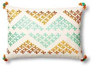 "Geo Chevron  Pillow, Multi, polyester/feather insert, 14"" x 20"" - One Kings Lane"