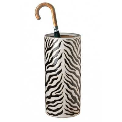 Zebra Ceramic Umbrella Stand - The Well Appointed House