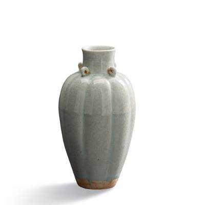 Celadon Fluted Vase - Frontgate