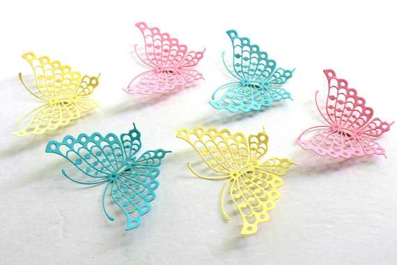 Baby Shower butterfly - Paper Butterflies -Yellow - Etsy