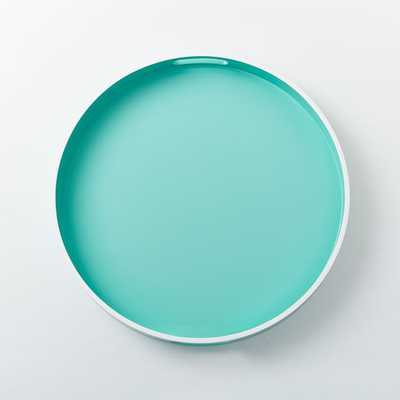 White Rim Lacquer Trays - Round - Pale Harbor - West Elm