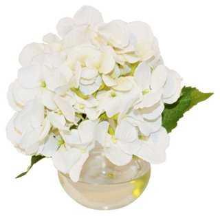 """8"""" Hydrangea in Bubble Vase, Faux - One Kings Lane"""